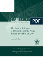 The Role of Religion in National Security Policy Since 9/11