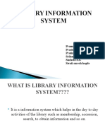 LIBRARY INFORMATION SYSTEM