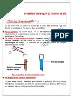 Chap3-Transformation Du Cuivre Et Ion Cuivre-1