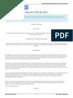 Decreto 2729 de 2012 Anuncio Del Proyecto
