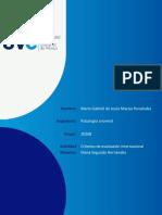 Criterios de Evaluación Internacional. Cuadro Comparativo y Reflexión