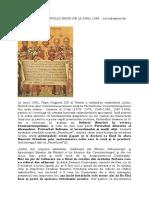 """""""PECETLUIREA"""" SFÂNTULUI SINOD DE LA ANUL 1583 - un îndreptar de mărturisire ortodoxă."""