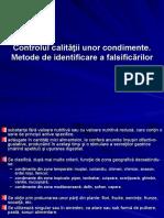 Controlul Calitatii unor Condimente - Metode de Identificare a Falsificarilor