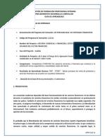 Guia de Aprendizaje No. 2 Productos y Servicios Financieros