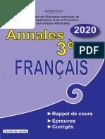 Annales Francais 3e