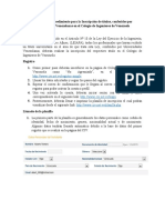 Requisitos y procedimiento para la Inscripción de títulos