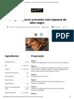Barriga de porco crocante com espuma de alho negro _ Receitas _ Pingo Doce