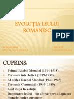 Nastas Sveta, Monedă Și Credit, Evoluția Leului Românesc