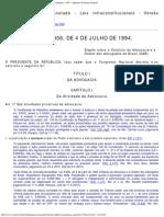 Estatuto Da Advocacia/OAB e o STF