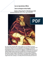 Cum Ex Apostolatus Officio ( Written by Pope Paul IV )