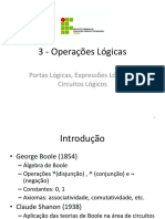3 - Operações Lógicas