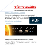 Le systéme solaire