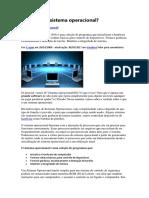 Sistemas Operacionais - O que é um Sistema Operacional