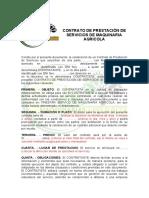 contrato de prestacion de servicio