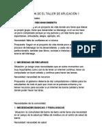 SOLUCION DE EL TALLER DE APLICACIÓN 1