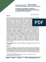 Estudo das diferentes embalagens utilizadas no armazenamento e comercialização de milho verde em conserva na cidade de Ponta Grossa, Paraná