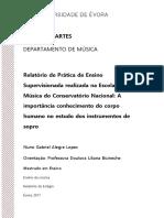 Mestrado - Ensino de Música - Nuno Gabriel Alegre Lopes - Relatório de Prática de Ensino Supervisionada Realizada Na Escola de Música Do Conservatório Nacional...