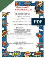 MISIÓN NODO TRANSVERSAL - Habilidades Socioemocionales - Grado 11