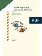 Que Es La Critica -Foucault 2019