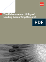 ACCA Relevance of accounting research 2010