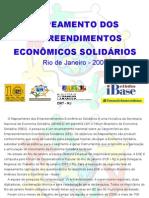 Mapeamento dos empreendimentos econômicos solidários