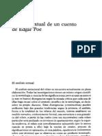 BARTHES - Analisis Textual de un Cuento de Edgar Poe