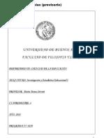 10018- Programa Investigación y Estadistica Educacional I 1 2011
