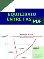 EQUILÍBRIO DE FASES-SUBSTANCIAS PURAS - parte I -2021