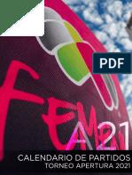 Calendario Liga Mx Femenil Apertura 2021