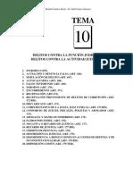 Tema 10 Delitos contra la funcion judicial