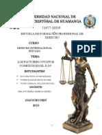 monografia DIP, LAS NORMAS CONFLICTUALES INTERNACIONALES Y LOS PUNTOS DE CONEXIÓN