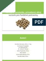 Aktívne potraviny z konopného semiačka