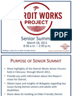 Detroit Works Project 03/17/2011 Senior Summit Presentation