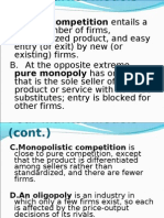 Market Structure - Pure Competition