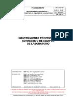 PRT-CNSP-002  Manten Preventivo y  Correctivo de  Equipos de  Laboratorio
