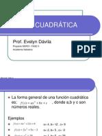 FUNCION CUADRATICA  PRES  MSP 21