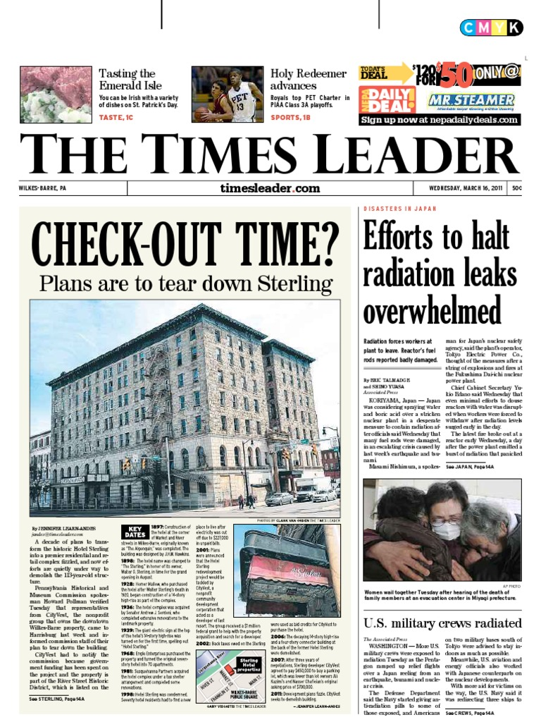 Wilkes Barre Times Leader 3 16 Nuclear Weapons Npr Tachometer Tach Printed Circuit Repair Board 7577 Usa Made Willcox