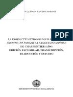 Charpentier (1596) La parfaicte méthode pour entendre, escrire, et parler la langua espagnole