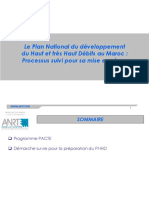 Le Plan National du développement du Haut et très Haut Débits au Maroc _ Processus suivi pour sa mise en place.