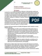 Clasificacion y dimensiones del desarrollo humano