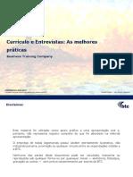 CV e Entrevistas - Webinar