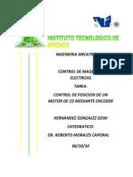 CONTROL DE POSICION DE UN MOTOR DE CD CON ENCODER