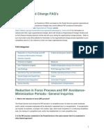 USPS Organization Changes FAQs 2011