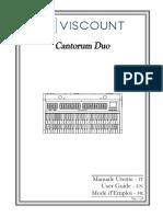 Viscount CantorumDuo Manual (IT-EN-FR)
