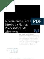 LINEAMIENTOS PARA EL DISEÑO DE DE PLANTAS PROCESADORAS DE ALIMENTOS. Capítulos 1-4