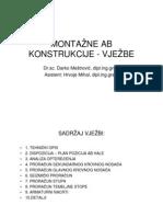 MONTAZNE AB KONSTRUKCIJE - VJEZBE 1