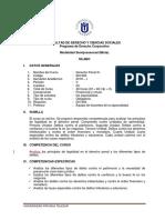 DERECHO PENAL III - SEMIPRESENCIAL  SILABUS