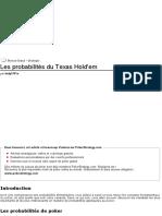 Les probabilités du Texas Hold'em