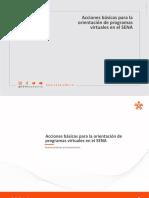 Acciones Basicas Para La Orientacion de Programas Virtuales en El SENA