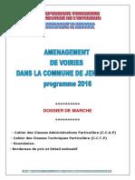 Marché Projet Commune Jendouba Centre Ville 2016